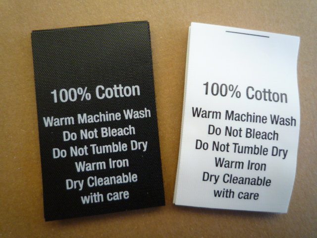 100pcs Printed Satin Label Custom Design 15 00 Trims